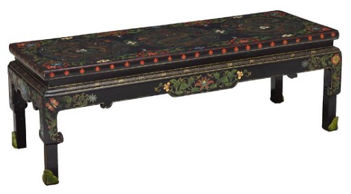 Groovy Black Lacquer Painted Dragon Sofa Table Chinese Pdpeps Interior Chair Design Pdpepsorg