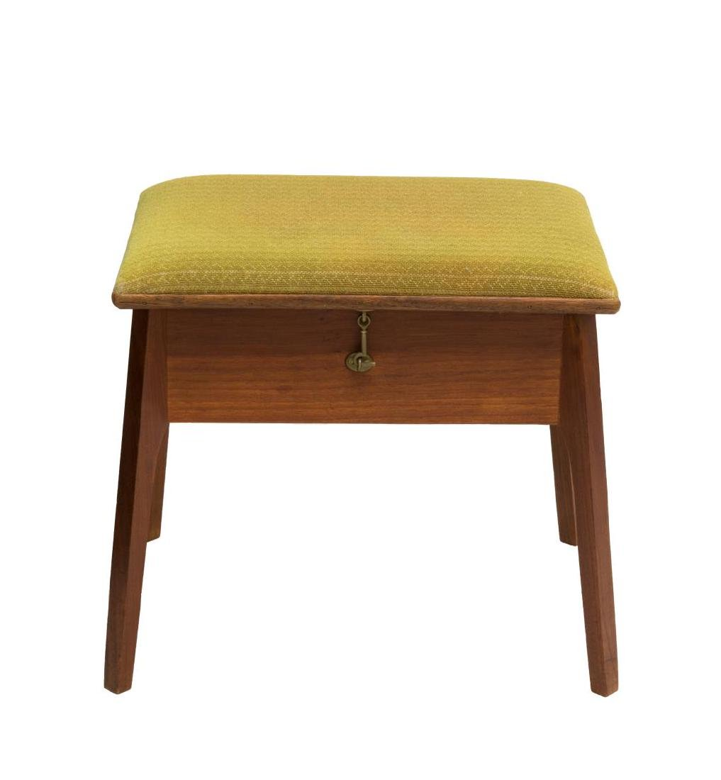 DANISH MID-CENTURY HINGED TOP TEAKWOOD STOOL - 2