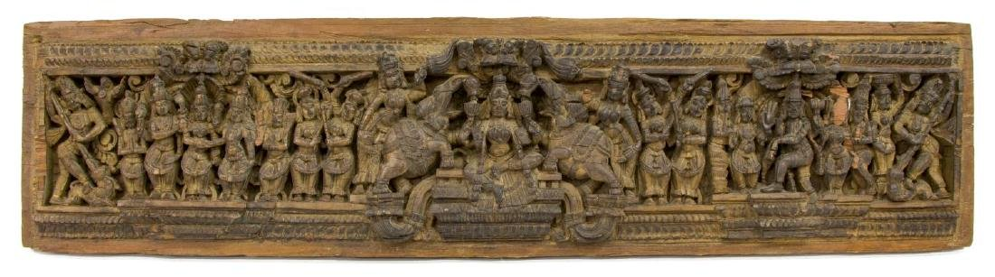 SOUTHEAST ASIAN FIGURAL CARVED ARCHITECURAL PANEL
