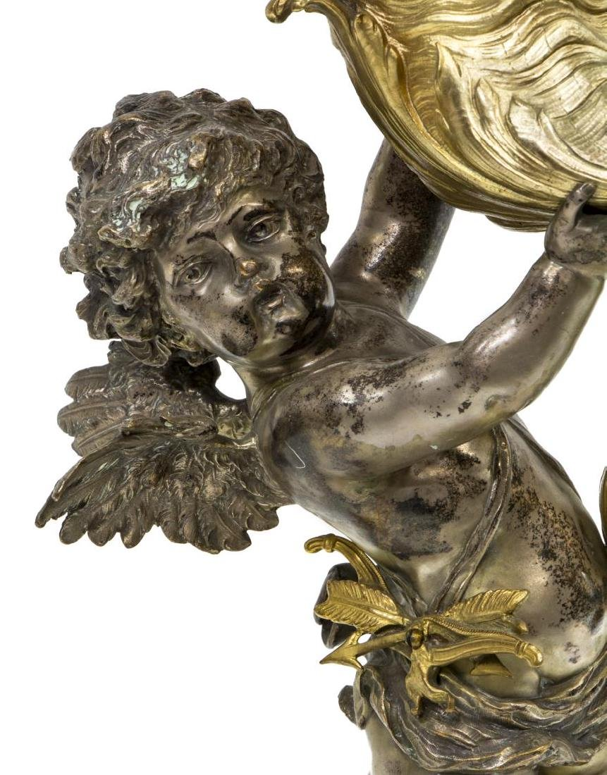 CONTINENTAL BRONZE-DORE CUPID CENTERPIECE - 2