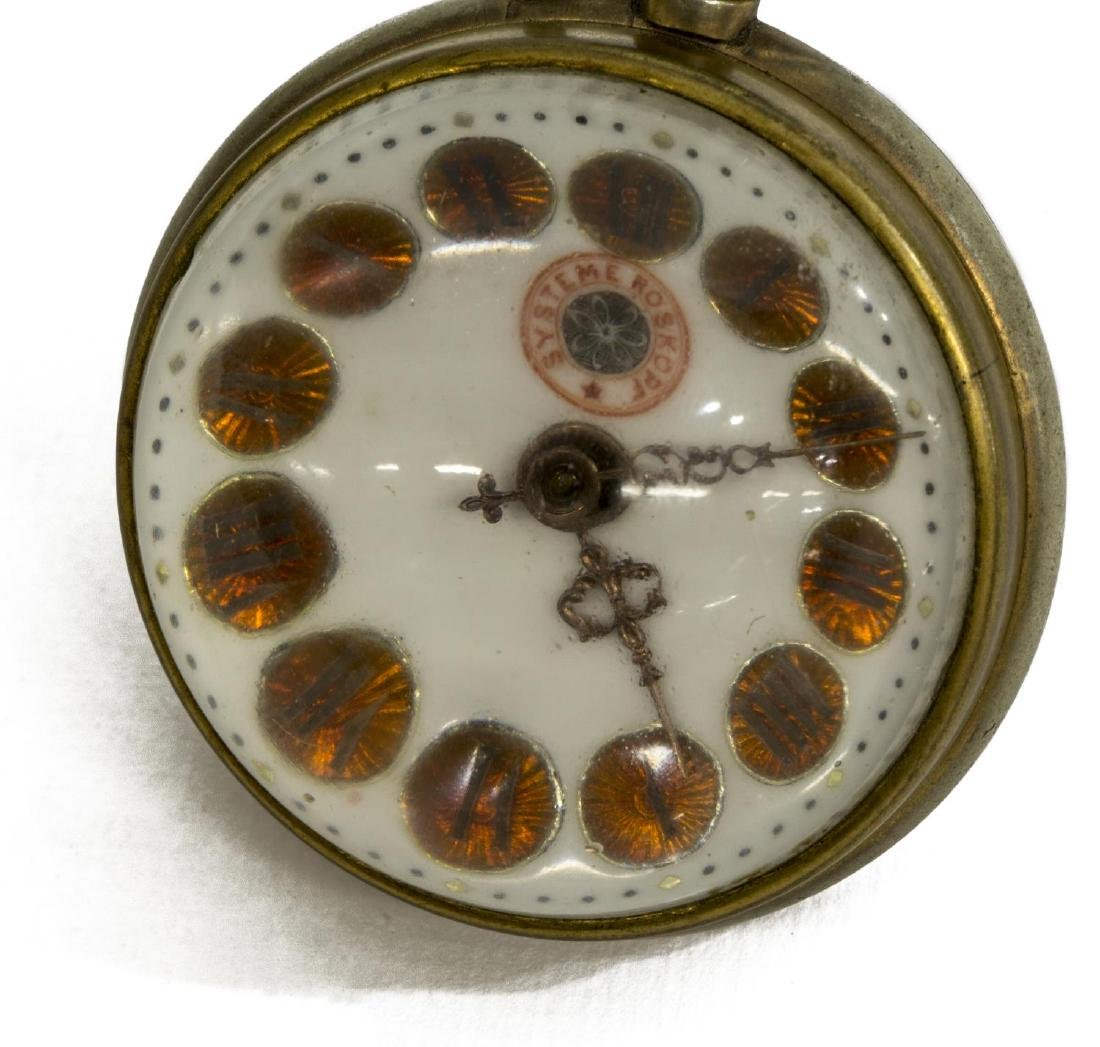 (2) GLASS-CASED PAPERWEIGHT DESK CLOCKS, JEWELED - 4