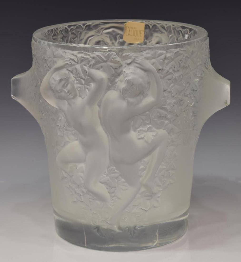LALIQUE FRANCE 'GANYMEDE' ICE CHAMPAGNE BUCKET