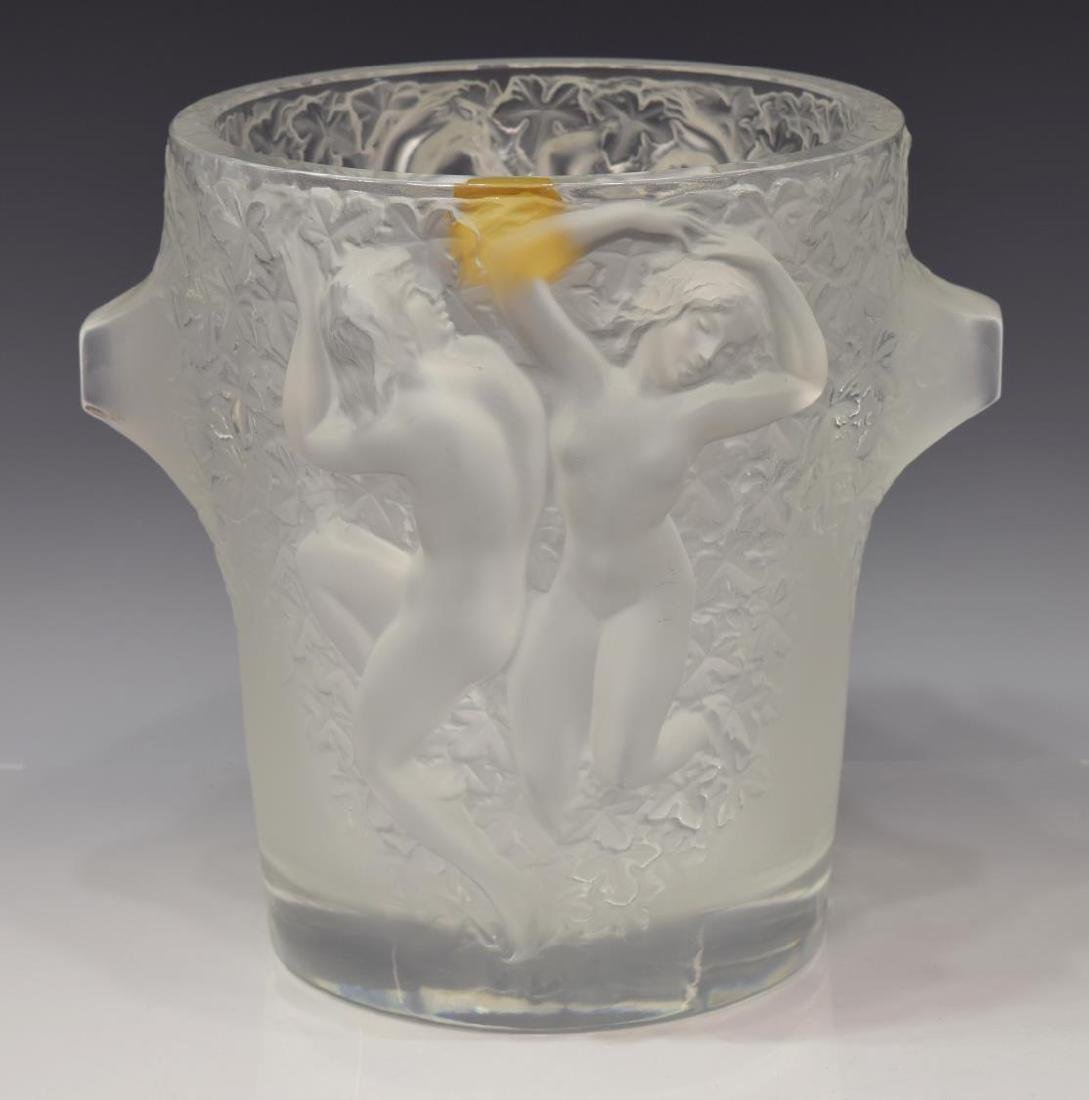 LALIQUE FRANCE 'GANYMEDE' ICE CHAMPAGNE BUCKET - 2