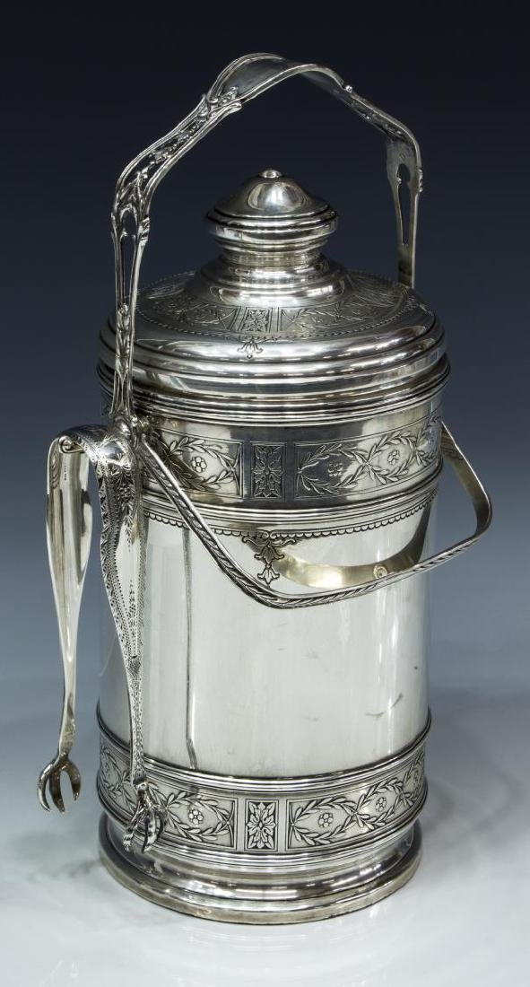STERLING SILVER PYREX THERMOS ICE BUCKET, CARTIER