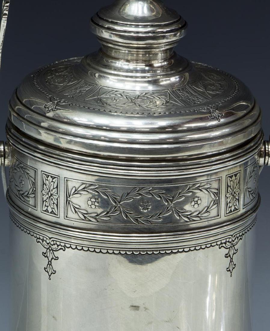 STERLING SILVER PYREX THERMOS ICE BUCKET, CARTIER - 3