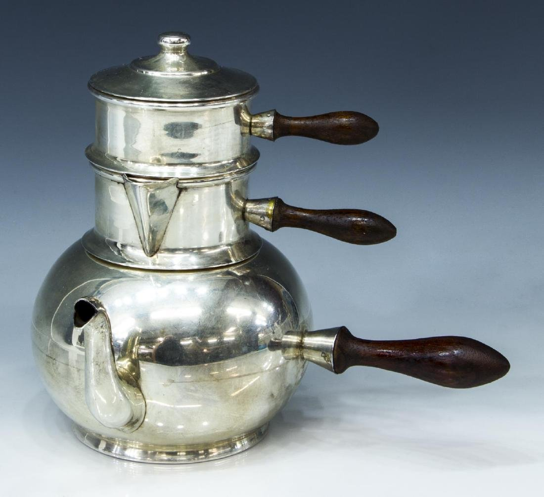 900 SILVER STACKING TRAVELING TEA SERVICE
