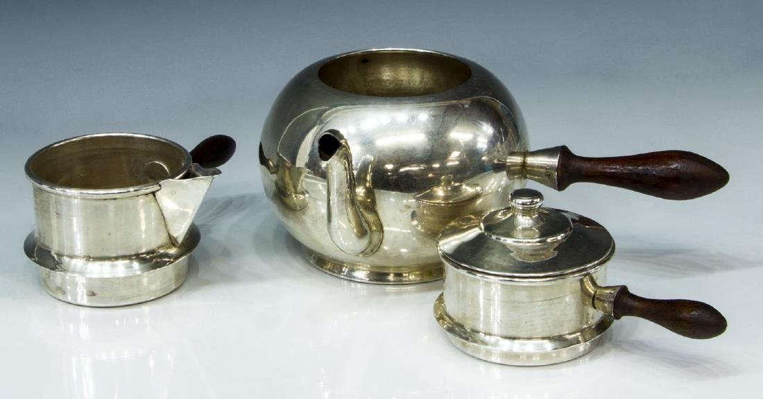 900 SILVER STACKING TRAVELING TEA SERVICE - 3