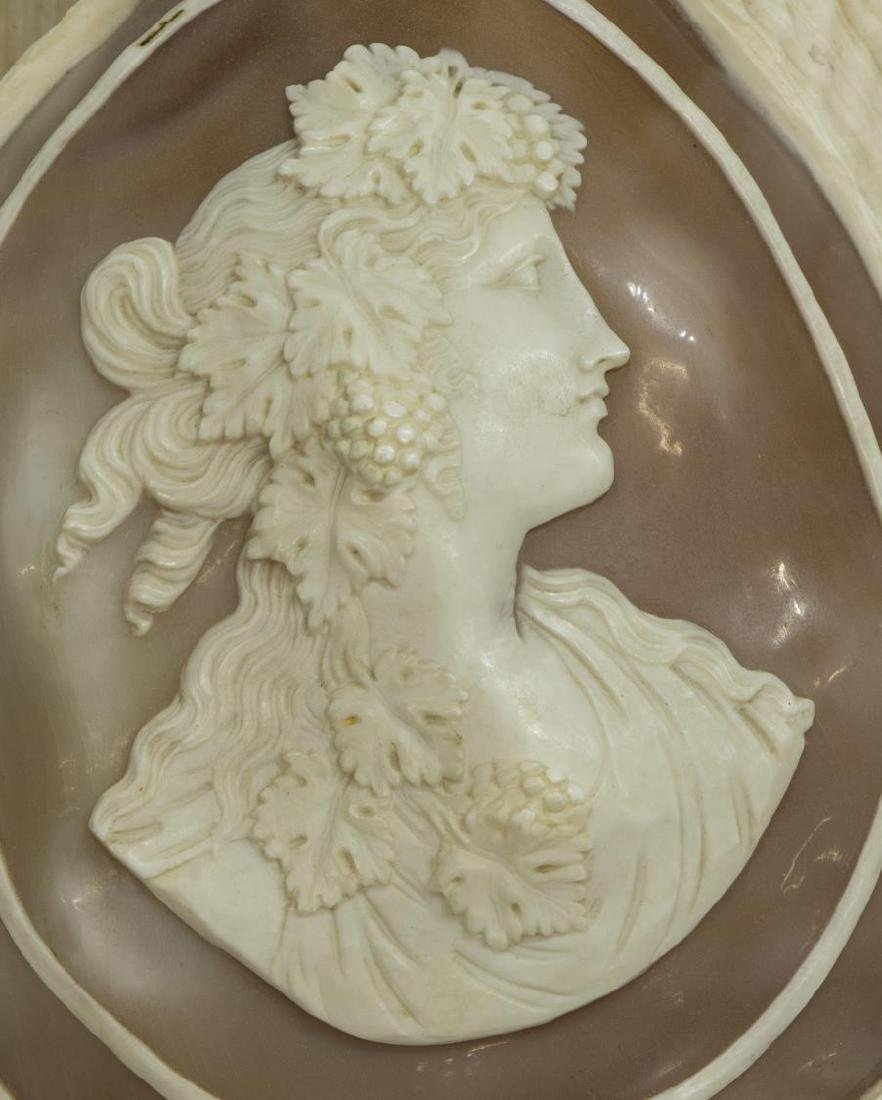 (2) CAMEO CUT CONCH SHELLS, BEAUTIES IN PROFILE - 2