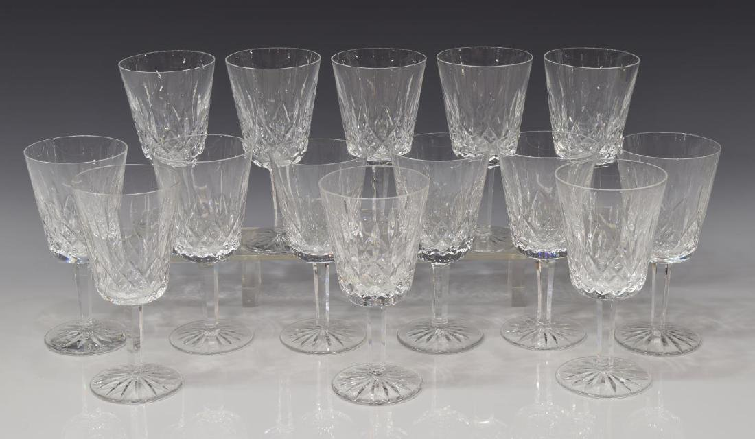 (14) WATERFORD 'LISMORE' CUT CRYSTAL WATER GOBLETS