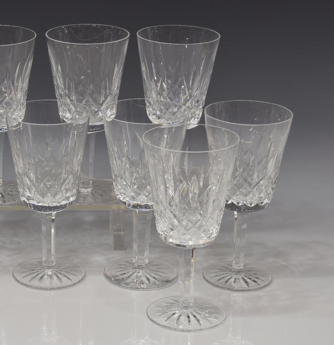 (13) WATERFORD 'LISMORE' CUT CRYSTAL WATER GOBLETS - 2