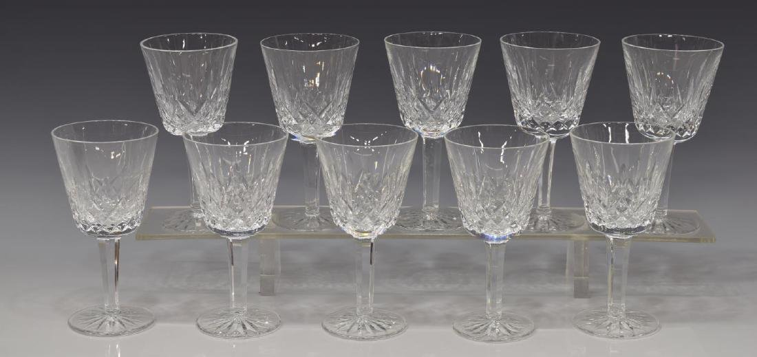 (10) WATERFORD 'LISMORE' CUT CLARET WINE GLASSES