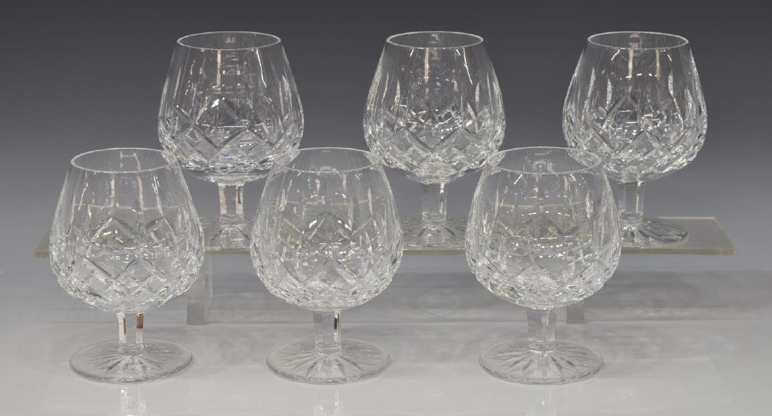(6) WATERFORD 'LISMORE' CUT CRYSTAL BRANDY GLASSES