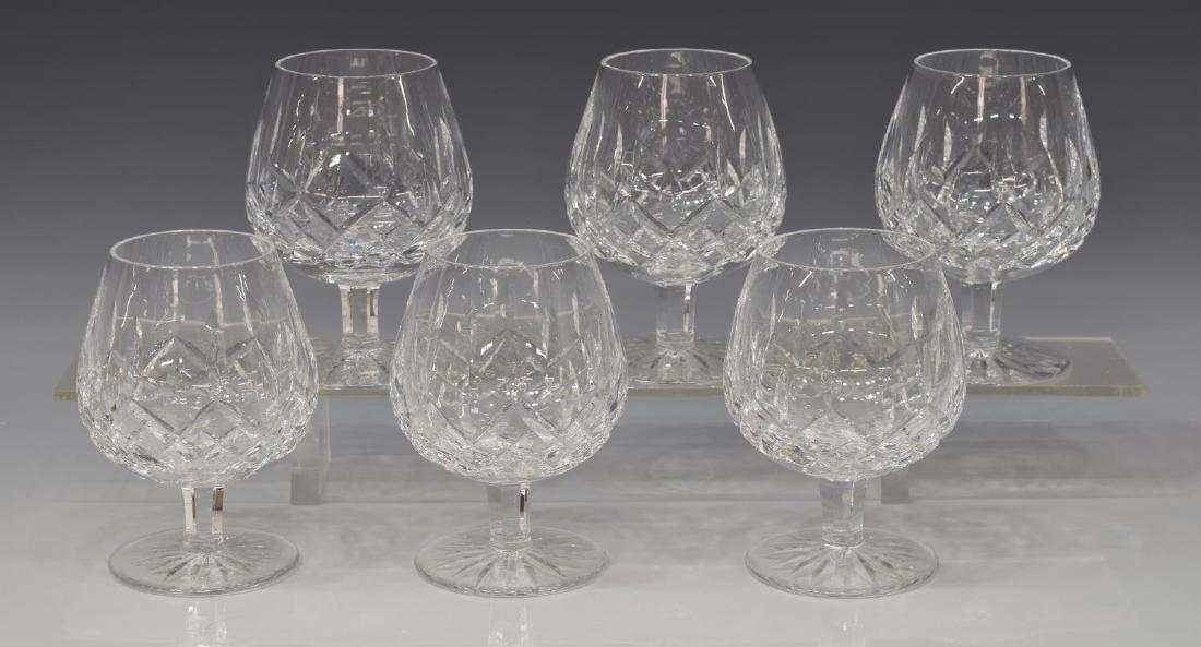 (6) WATERFORD 'LISMORE' CUT CRYSTAL BRANDY GLASSES