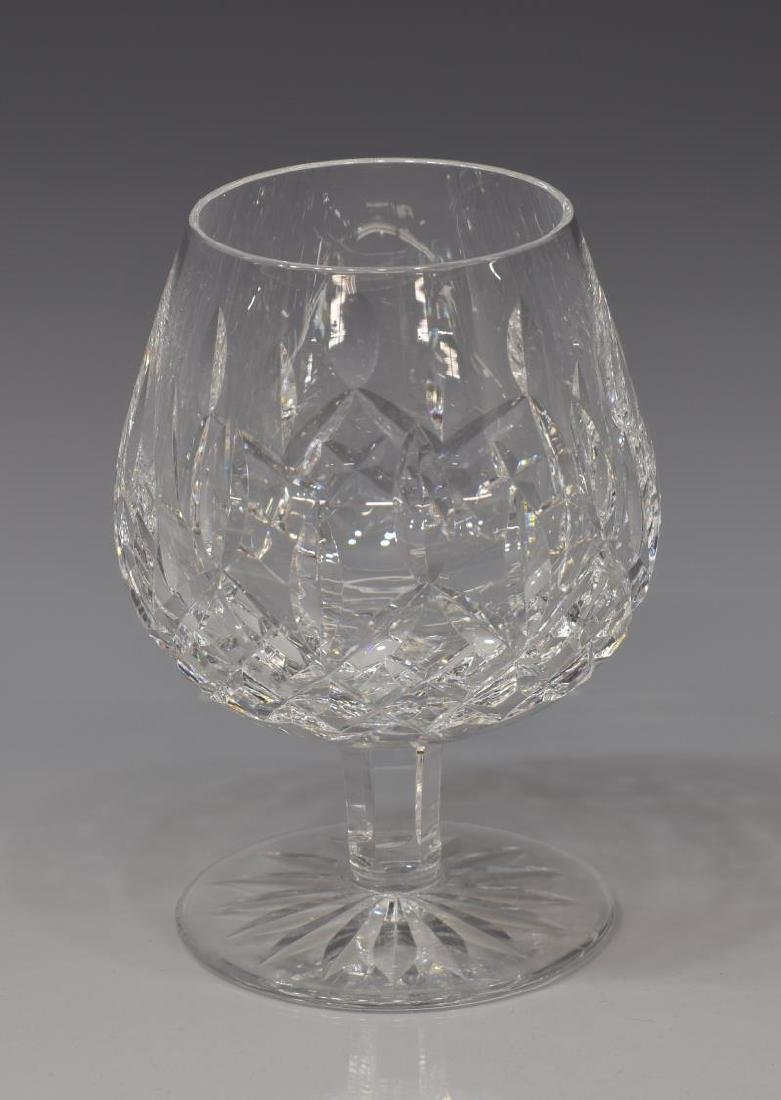 (6) WATERFORD 'LISMORE' CUT CRYSTAL BRANDY GLASSES - 2