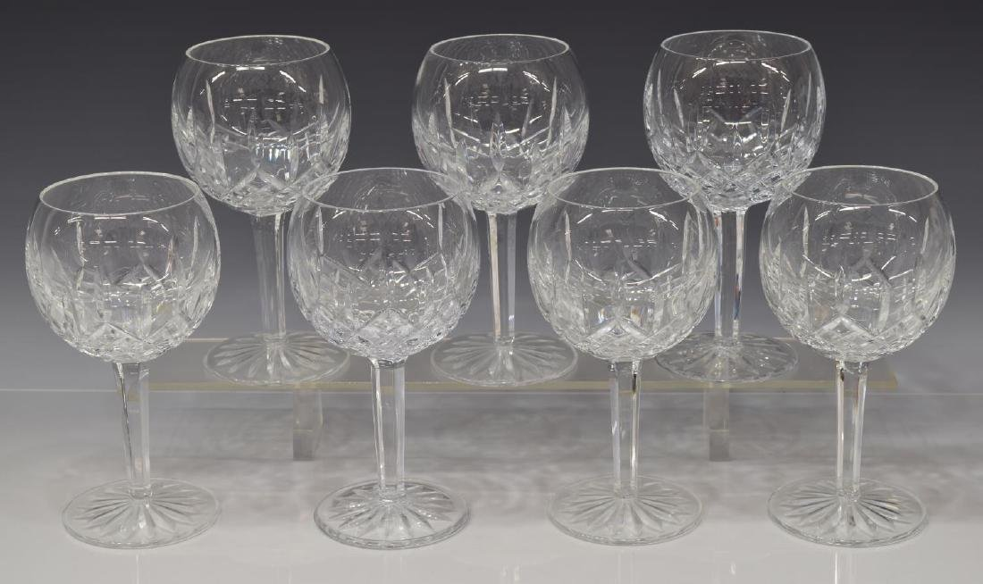 (7) WATERFORD 'LISMORE' WINE BALLOON GOBLETS