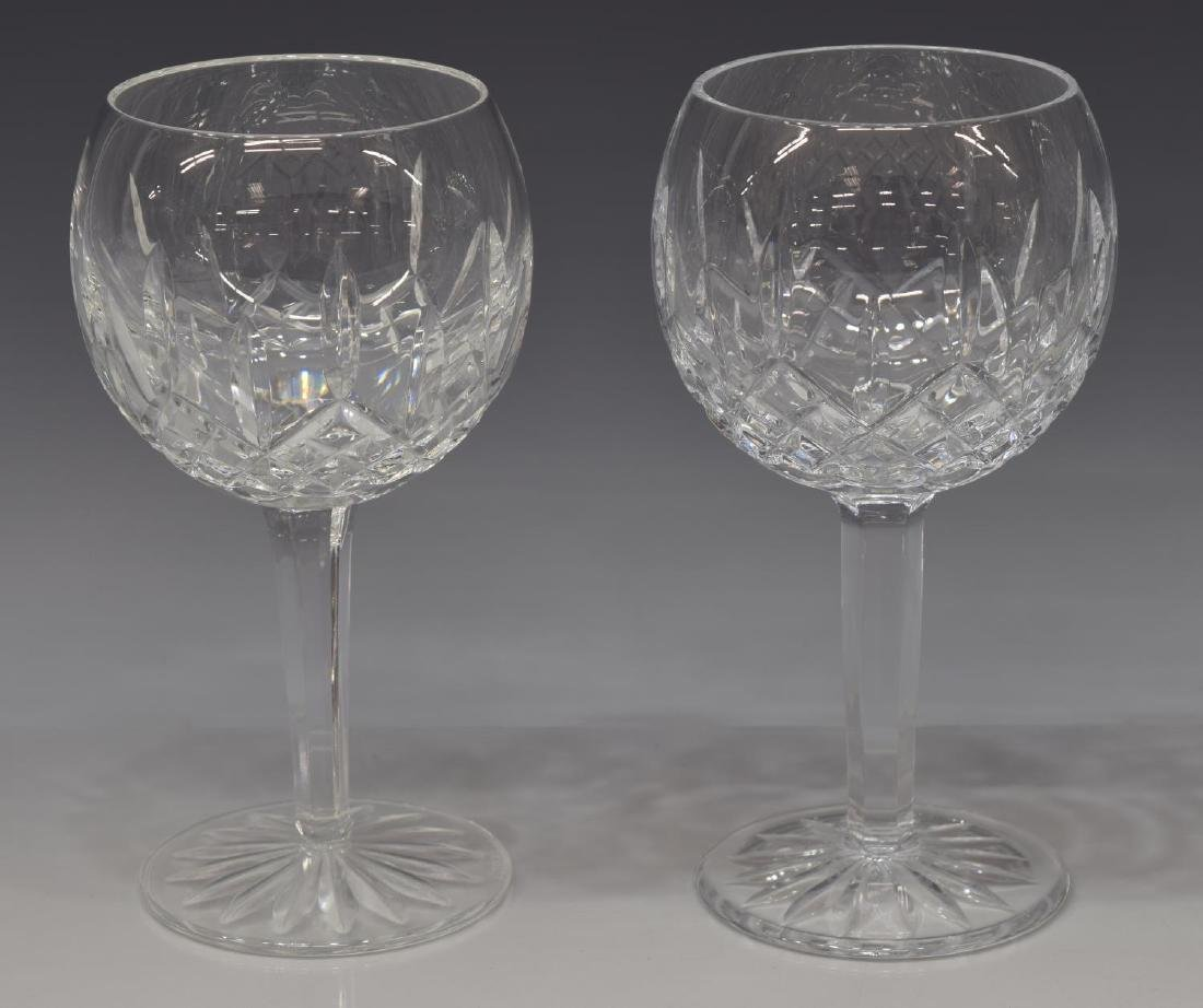 (7) WATERFORD 'LISMORE' WINE BALLOON GOBLETS - 2