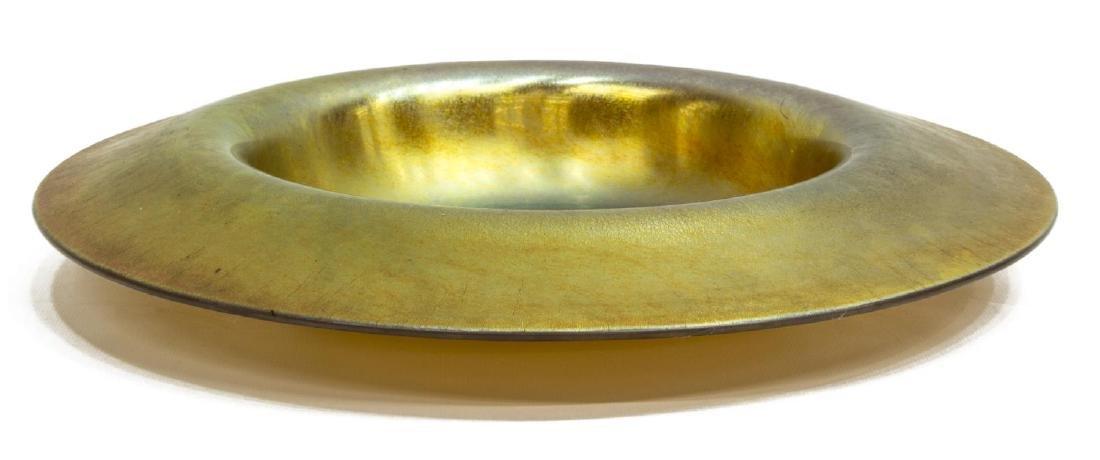 STEUBEN GOLD AURENE CENTERPIECE BOWL, SHAPE 3579 - 2