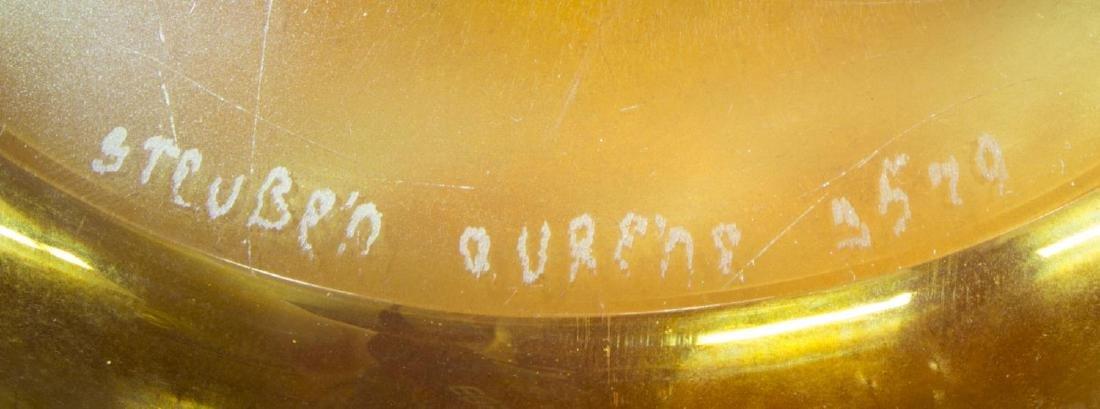 STEUBEN GOLD AURENE CENTERPIECE BOWL, SHAPE 3579 - 4