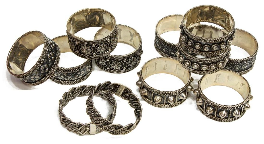 (12) COLLECTION OF STERLING SILVER NAPKIN RINGS - 3