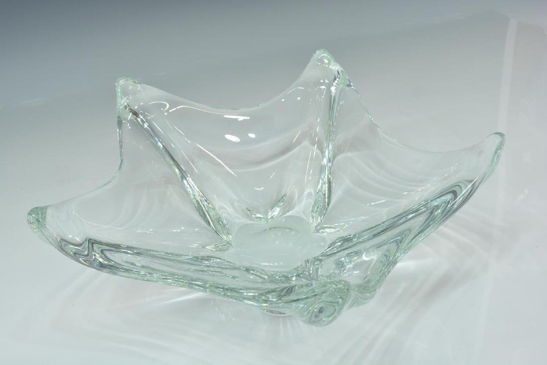 FRENCH DAUM CRYSTAL CENTERPIECE BOWL - 2
