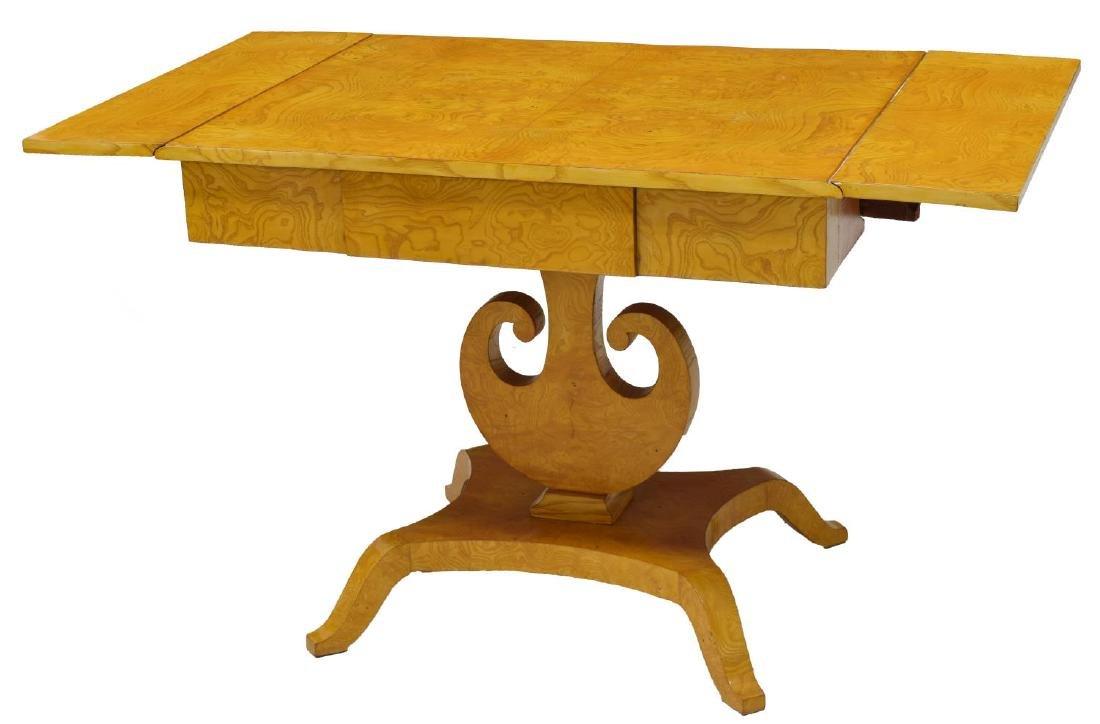 DANISH ART DECO MAPLE DROP SIDE TABLE