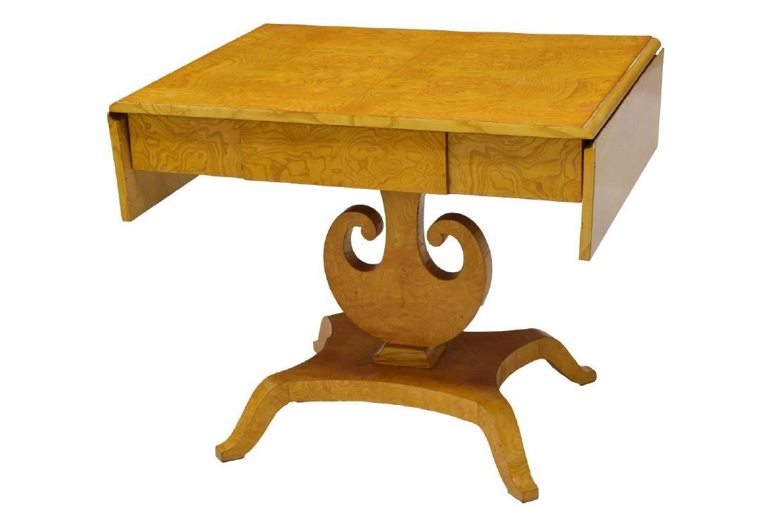 DANISH ART DECO MAPLE DROP SIDE TABLE - 2