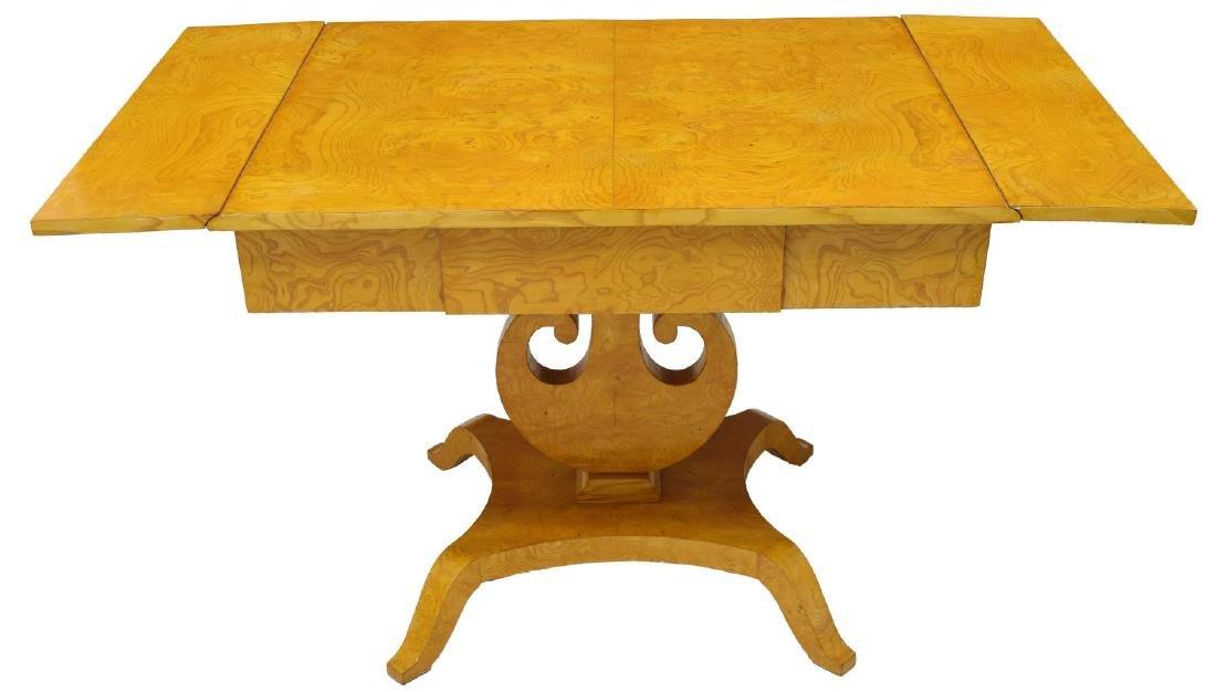 DANISH ART DECO MAPLE DROP SIDE TABLE - 3