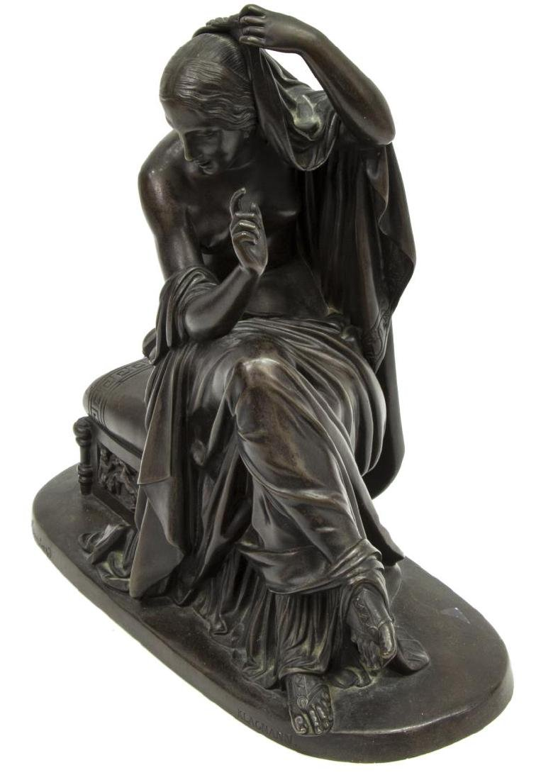 KLAGMANN (1810-1867) PATINATED BRONZE SCULPTURE - 3