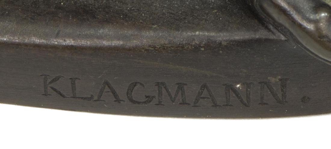 KLAGMANN (1810-1867) PATINATED BRONZE SCULPTURE - 6