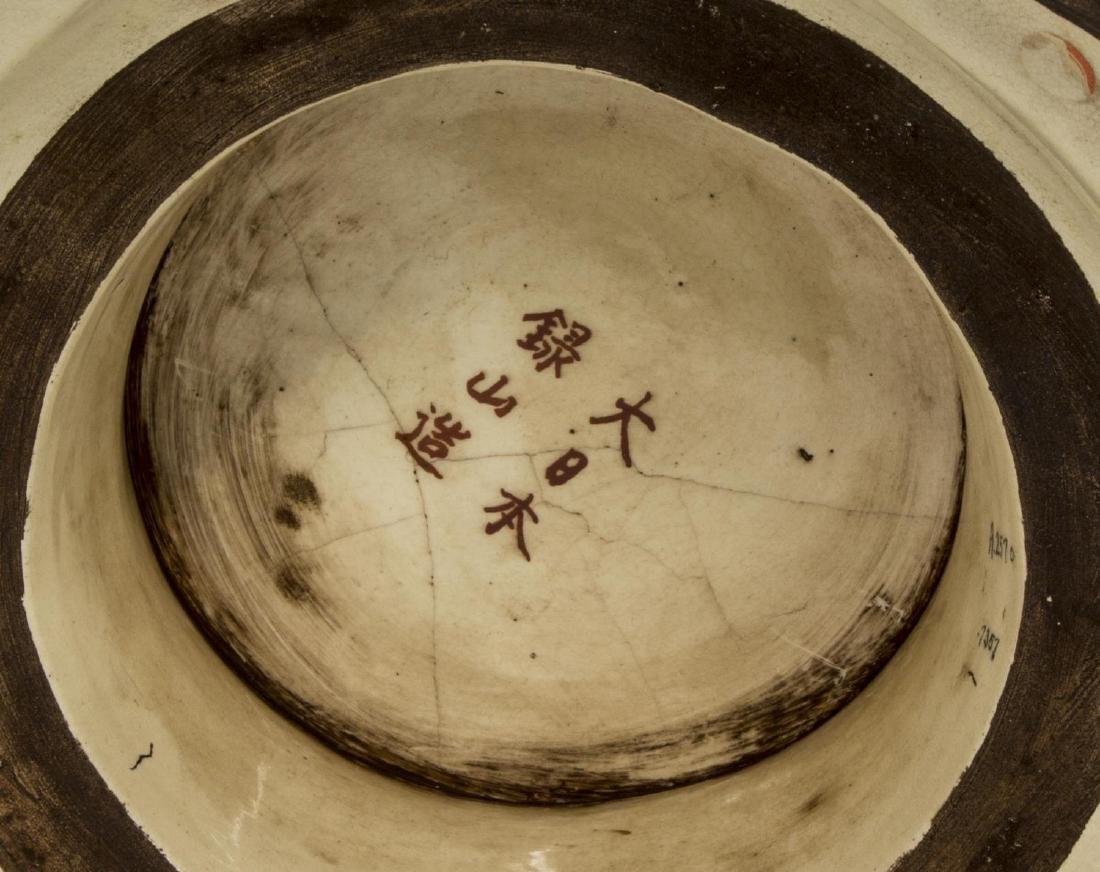 LARGE JAPANESE MEIJI SATSUMA EARTHENWARE VASE - 9