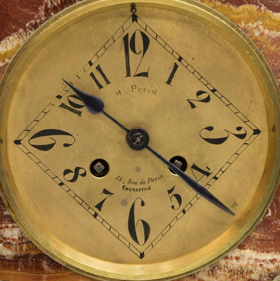FRENCH ART NOUVEAU GARNITURE CLOCK SET - 3
