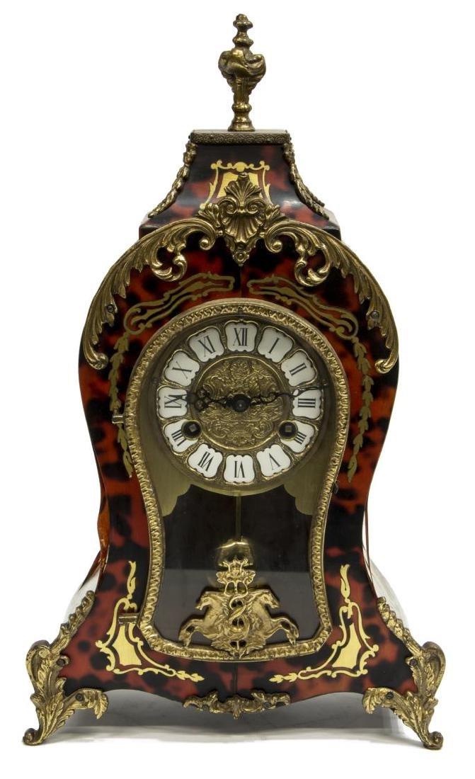 LOUIS XVI STYLE HERMLE BOULLE MANTEL CLOCK - 2