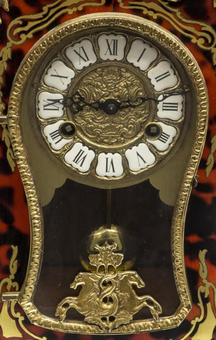 LOUIS XVI STYLE HERMLE BOULLE MANTEL CLOCK - 3