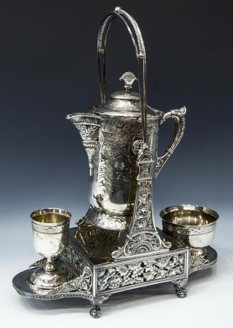 HARTFORD SILVERPLATE CO. TILTING WATER PITCHER