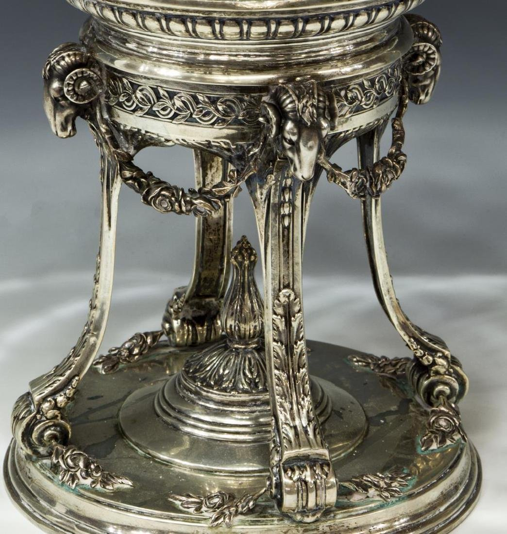 NEOCLASSICAL STYLE SILVER & CUT GLASS CENTERPIECE - 2