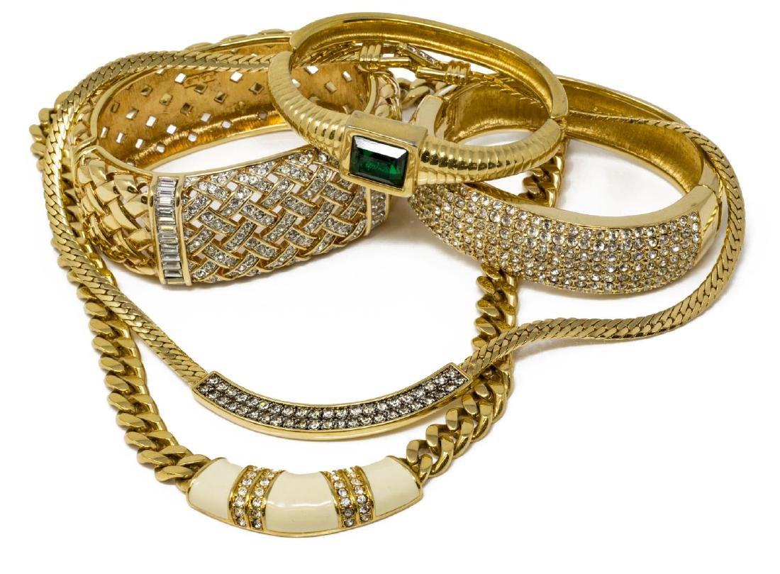 (5) SWAROVSKI S.A.L GOLD-TONE & CRYSTAL JEWELRY