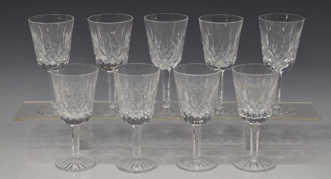 (9) WATERFORD 'LISMORE' CUT WHITE WINE GLASSES