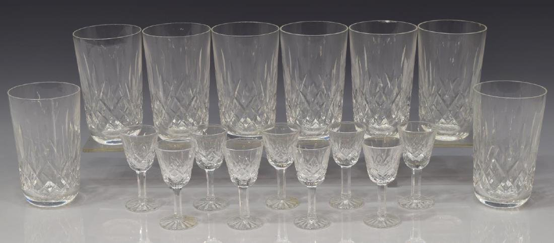 (17) WATERFORD 'LISMORE' CRYSTAL DRINKWARE