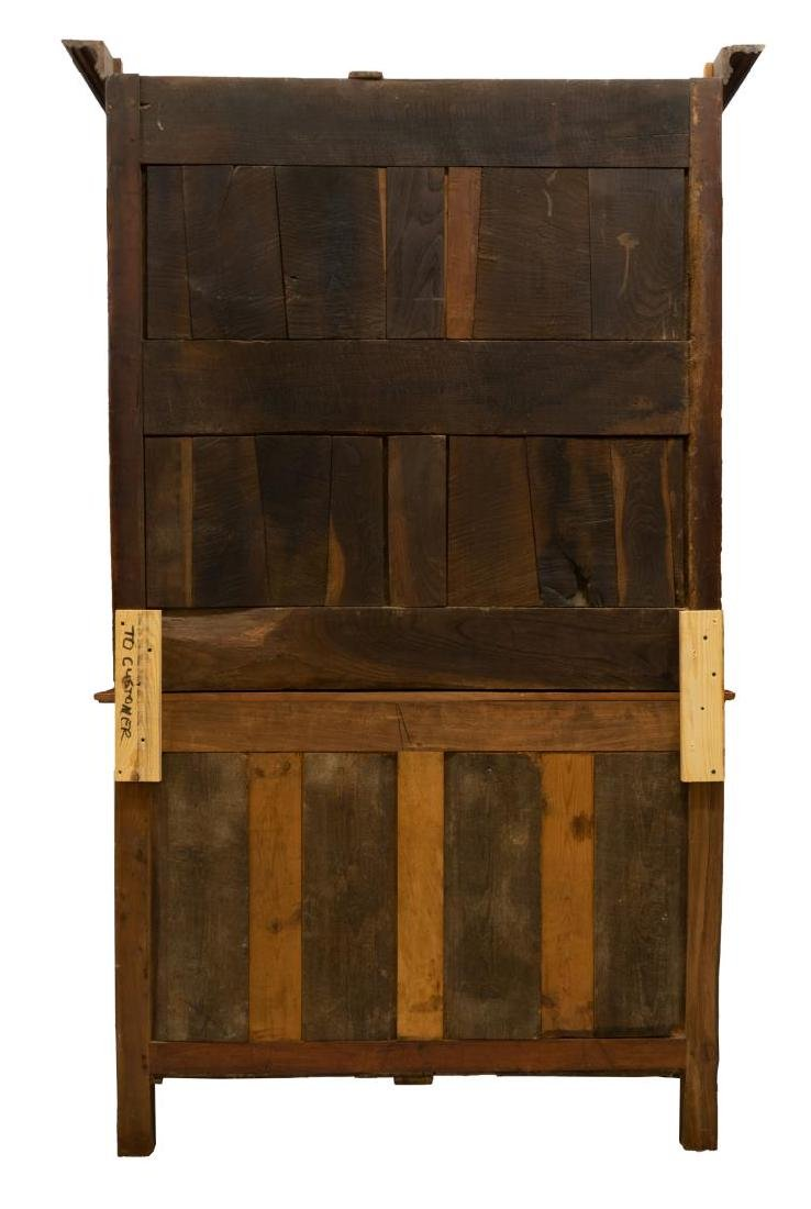 FRENCH 19TH C. CHERRYWOOD DEUX CORPS CUPBOARD - 4
