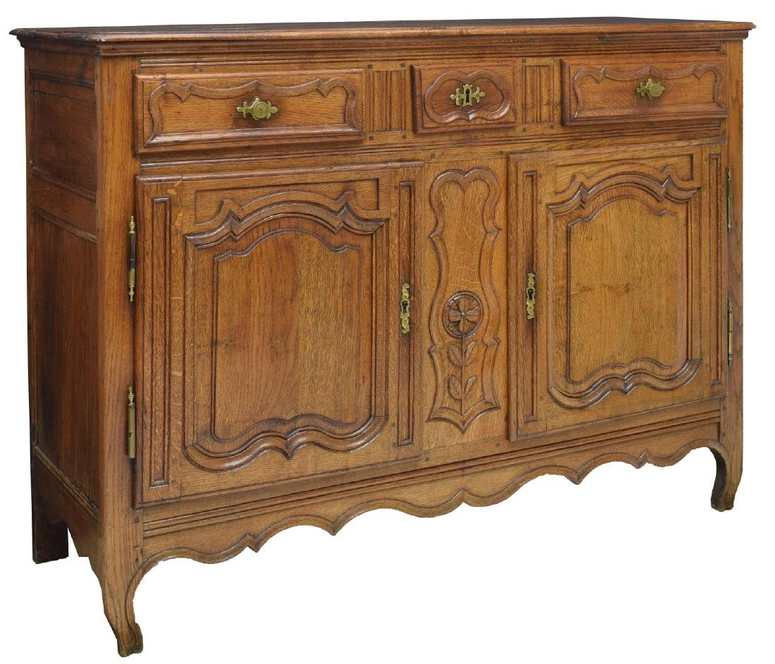 FRENCH LOUIS XV 18TH C. OAK SIDEBOARD