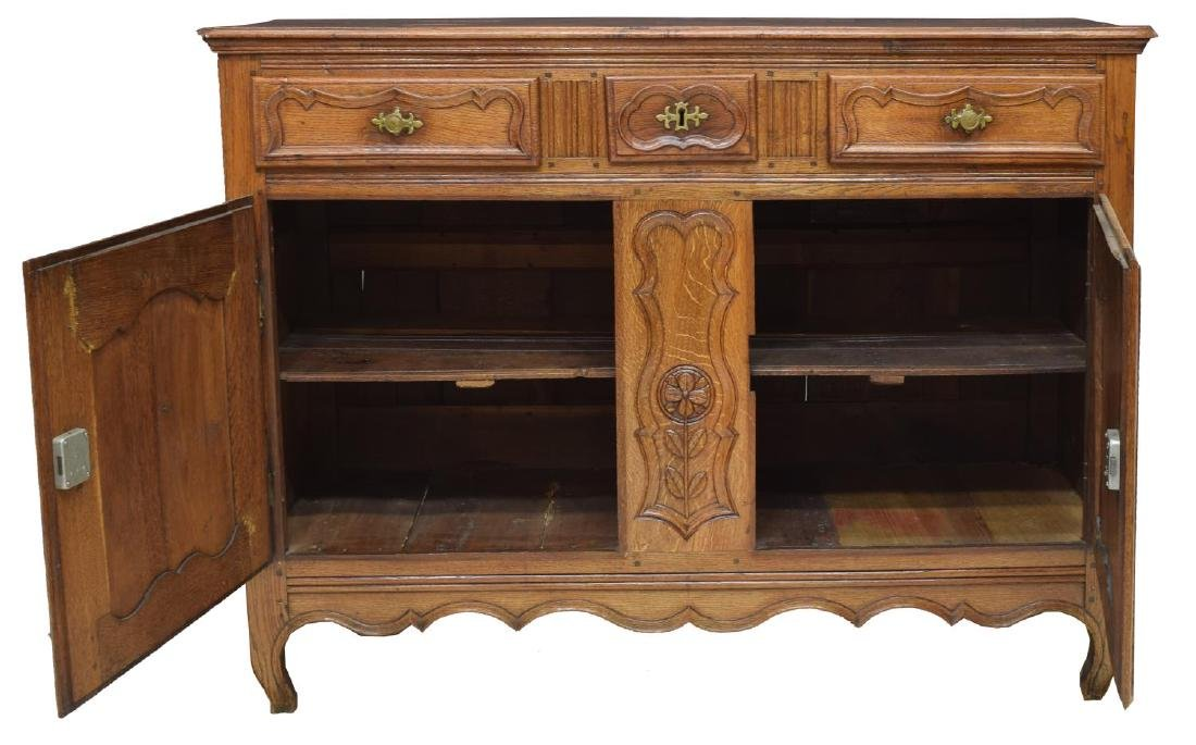 FRENCH LOUIS XV 18TH C. OAK SIDEBOARD - 2