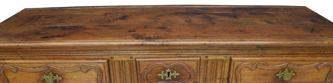 FRENCH LOUIS XV 18TH C. OAK SIDEBOARD - 3