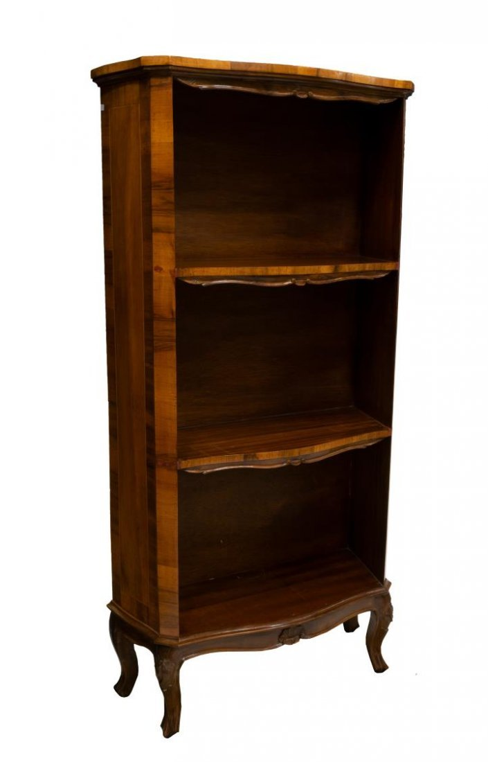 VINTAGE VENETIAN PATCHWORK OPEN SHELVED BOOKCASE