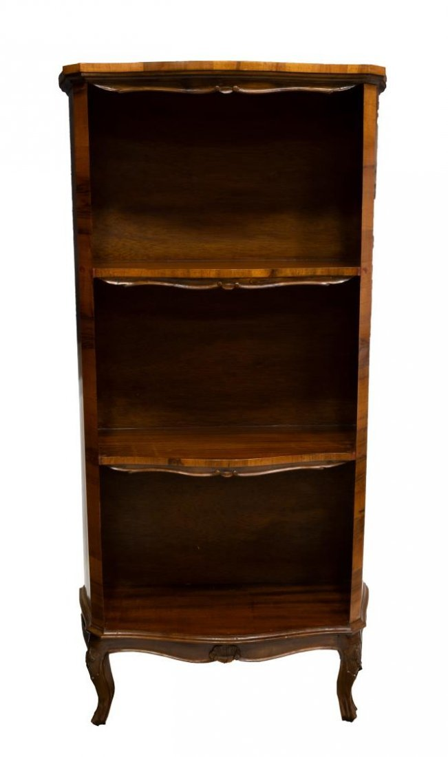 VINTAGE VENETIAN PATCHWORK OPEN SHELVED BOOKCASE - 2