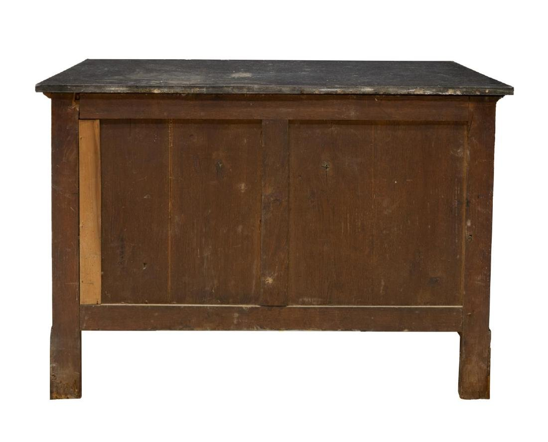 FRENCH EMPIRE STYLE MARBLE TOP MAHOGANY COMMODE - 2