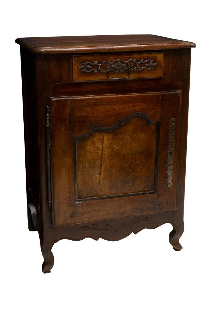 FRENCH LOUIS XV STYLE WALNUT CONFITURIER CABINET