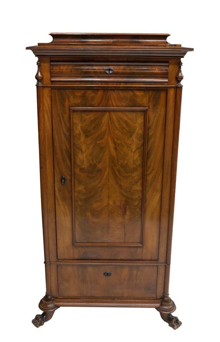 ANTIQUE DANISH FLAME MAHOGANY FITTED CUPBOARD - 2