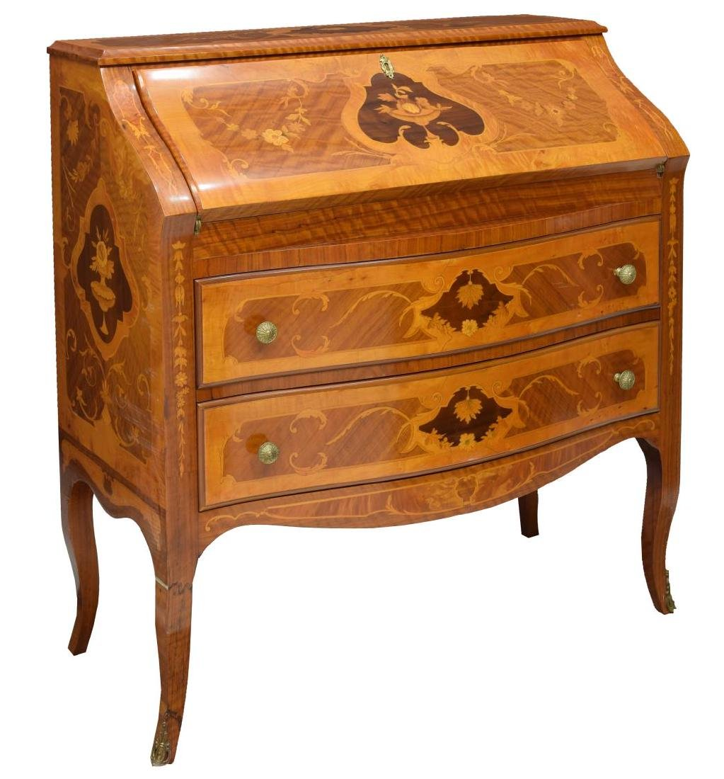 LOUIS XV STYLE INLAID SECRETARY