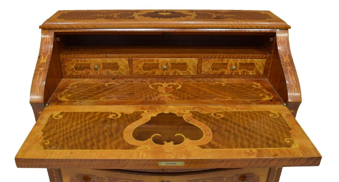 LOUIS XV STYLE INLAID SECRETARY - 3