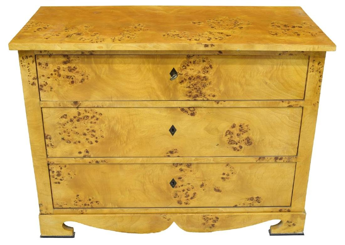 DANISH BIEDERMEIER BURLED BIRCH CHEST OF DRAWERS - 2